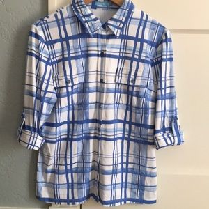 Tops - J. McLaughlin Catalina Cloth medium top EUC